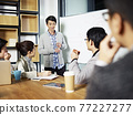 young asian businessman facilitating a group discussion or training in office. 77227277
