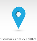 Map pointer - 3D vector object 77228071