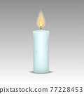 candle with burn flames Vector ill 77228453