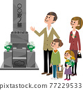Go to the grave with family 77229533