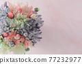화려한 꽃 프레임 77232977
