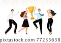 Business team win 77233638