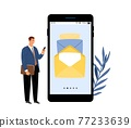 Business email vector concept 77233639