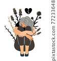 Girl in sorrow 77233648