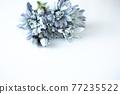 푸른 꽃 프레임 77235522
