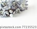 푸른 꽃 프레임 77235523