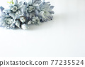 푸른 꽃 프레임 77235524