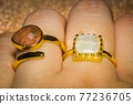 Gold ring with sunstone 77236705