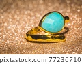 Gold ring with amazonite 77236710