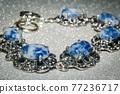 Bracelet with sodalite 77236717