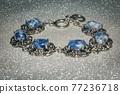 Bracelet with sodalite 77236718
