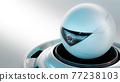 Futuristic security CCTV camera. 77238103