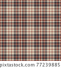 Plaid seamless pattern. Vector background of textile ornament. Flat fabric design. 77239885