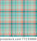 Plaid seamless pattern. Vector background of textile ornament. Flat fabric design. 77239886