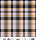 Plaid seamless pattern. Vector background of textile ornament. Flat fabric design. 77239887