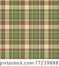 Plaid seamless pattern. Vector background of textile ornament. Flat fabric design. 77239888