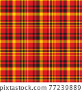 Plaid seamless pattern. Vector background of textile ornament. Flat fabric design. 77239889