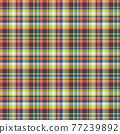 Plaid seamless pattern. Vector background of textile ornament. Flat fabric design. 77239892