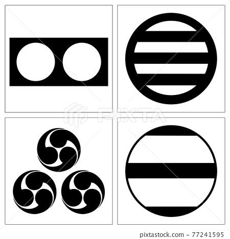 family crest, military commander, muromachi period 77241595