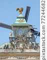 Old authentic Renaissance and Rococo epochs architecture in historical downtown of Potsdam, Germany 77244682