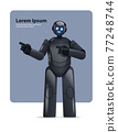 black robot cyborg pointing at something modern robotic character artificial intelligence technology concept 77248744