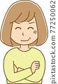 矢量 女生 女孩 77250062