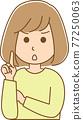 矢量 女生 女孩 77250063