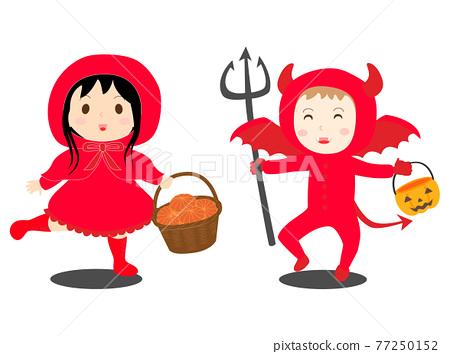 little red riding hood, demon, devil 77250152