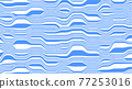Abstract vector background in blue and white colors. Waves on a striped surface. 77253016