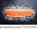 Raw salmon or trout sea fish 77254705