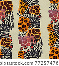 Animal mix print seamless pattern. Abstract background 77257476