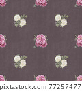 Watercolor floral seamless pattern. Hand painted flowers, greeting card template or wrapping paper 77257477