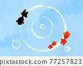 金魚 漣漪 波紋 77257823