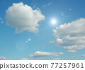 Cloudy sky background 77257961