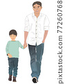 父子 父母和小孩 親子 77260768