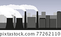 air pollution industry smog in the city 77262110