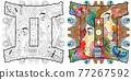 Gemini zodiac sign with mandala Cute cartoon character retro zentangle stylized in vector 77267592
