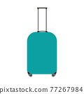 Colored travel suitcases isolated on white background. Vector Illustration 77267984