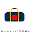 Colored travel bags isolated on white background. Vector Illustration 77267989