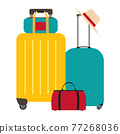 Travel bags, suitcases icon isolated on white background 77268036