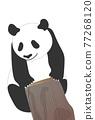 熊貓 煙蒂 矢量 77268120