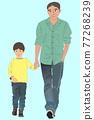 父子 父母和小孩 親子 77268239