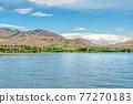 Beautiful view in Okanagan valley over Osoyoos lake 77270183