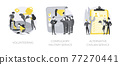 Community service abstract concept vector illustrations. 77270441