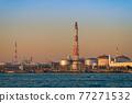[Keihin Industrial Area, Night View of Oil Refining Plant in Ukishima, Kawasaki City] 77271532