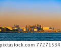 [Keihin Industrial Area, Night View of Oil Refining Plant in Ukishima, Kawasaki City] 77271534