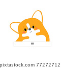 Corgi is the British Queen's dog. T-shirt print. 77272712