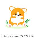 Corgi is the British Queen's dog. T-shirt print. 77272714