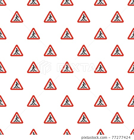 Crosswalk pattern seamless 77277424