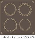 frame, vector, heart 77277924
